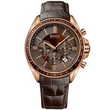 Hugo Boss HB1513093 Men's Driver Sport Rose Gold Case Chronograph Designer Watch