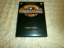 WWE/WWF/WCW HISTORY OF WRESTLEMANIA I - IX DVD HOGAN ANDRE' THE GIANT BRET HART