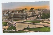 Paris France Perspective of the Louvre Museum Deckle Edge Postcard
