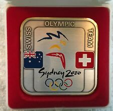 2000 Sydney Switzerland Olympic Athlete Participation Medal in Case