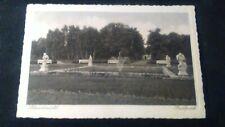 Schöne uralte s/w AK Schneidemühl Stadtpark Brunnen Grünanlage gelauf. 1933 eh13