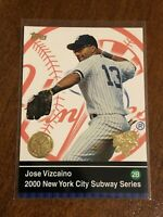 2000 World Series Topps Baseball Base #38 - Jose Vizcaino - New York Yankees