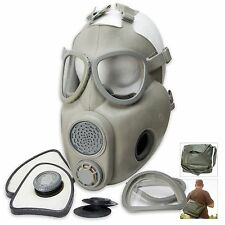 Czech M10 Gas Mask Military Surplus Bag Filters Spare Eye Pieces Halloween Party