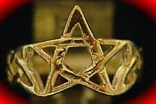 LOOK Celtic Pentagram Ring Infinity knot Silver Gold Plated
