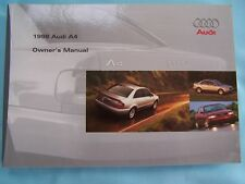 1998 Audi A4 Owners Manual Parts Service