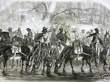 BLACK AMERICANA RAPPAHANNOCK Civil War 1862 Antique Engraving Print Matted