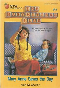 THE BABY-SITTERS CLUB #4 ~ MARY ANNE SAVES THE DAY ~ Ann M. Martin: GC