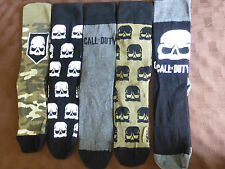 MENS FATHERS DAY BIRTHDAY GIFT CALL OF DUTY GAME THEMED SOCKS 5 PAIRS UK 6-8