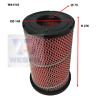 WESFIL AIR FILTER FOR Nissan NAVARA D22 ZD30DDT 3.0L 12.01-1.08 4WD
