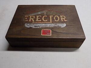 1917-19 A.C. Gilbert #4 Erector Set, Original Wood Box w/Tray
