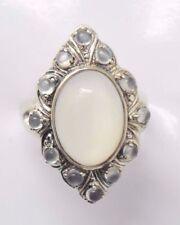 Anelli di lusso con gemme bianco misura anello 15