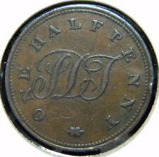1821 ST. HELENA HALF PENNY***VERY FINE CONDITION***KM #TN1***DO