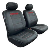 Black Leather Look Car Seat Covers For 2018 Mitsubishi Triton Front Set
