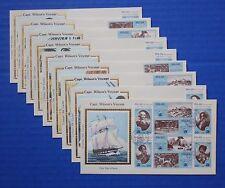 "Palau (33-40) 1983 Captain Wilson's Voyage Bicentennial Colorano ""Silk"" FDCs"