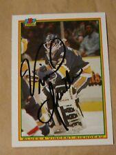 Vincent Riendeau St Louis Blues autographed card #2