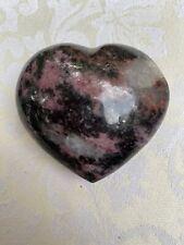 Rhodonite Crystal Heart AAA+ 193g 28 Nurture : Forgiveness : Reconciliation
