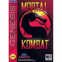 Mortal Kombat - Sega Genesis Game *CLEAN VG