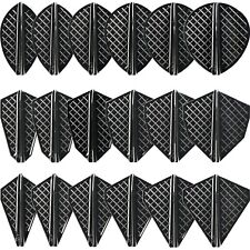 Cosmo Darts Fit Flight Pro Series Black Dart Flights for Cosmo Stems 18 Shapes