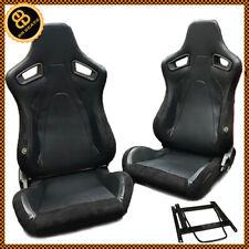 Paar BB6 Rs Verstellbarer Eimer Sports Racing Sitze + Hilfsrahmen Defender 90