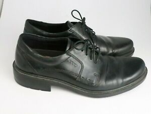 ECCO Men's Black Leather Casual Oxford Shoes Size 45 - 11.5