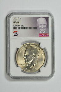 1971 D $1 Eisenhower Dollar NGC MS 65