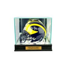 New Jason Kelce Philadelphia Eagles Glass and Mirror Mini Helmet Display Case