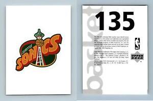 Seattle Supersonics Logo #135 Basketball 1997-8 Upper Deck Sticker