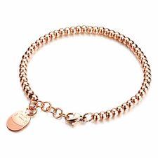 High Quality Lucky Cat Maneki Neko Rose Gold Plated Stainless Steel Bracelet