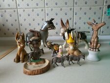 Collection Of Vintage Donkey Figurines