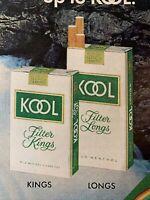 1972 Print Ad KOOL KINGS LONGS MILD cigarette Vintage Magazine advertisement