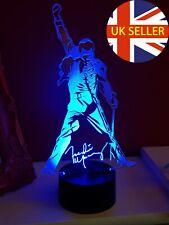 Freddie Mercury of Queen Acrylic Engraved LED lamp