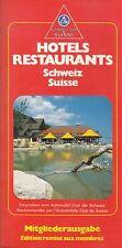 AUTOMOBILE CLUB DE SUISSE - ANCIEN GUIDE HOTELS RESTAURANTS 1987 - ACS SCHWEIZ