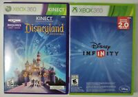 Lot of (2) XBOX 360 Disney Games -Disneyland Adventures - Disney Infinity 2.0