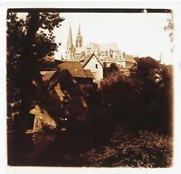 Chartres Francia Foto Stereo PL46Th5n Placca Da Lente Vintage 1925