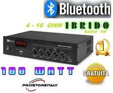AMPLIFICATORE AUDIO PDM25 100 WATT MAX IBRIDO 4-16 OHM+BLUETOOTH+RADIO FM+USB