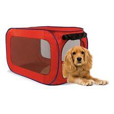 """Red Pop Open Pet Dog Kennel - Pop up 33 1/2"""" X 19"""" Pet Dog Pen"""