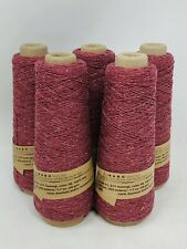 Lot of 5 Cones Habu Textiles A-1 Tsumugi Silk Wine #38 Yarn ~ NEW