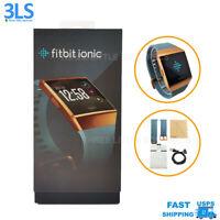 Fitbit Ionic Smartwatch Bluetooth GPS Activity Tracker Slate Blue & Burnt Orange