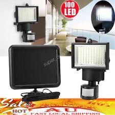 100LED Solar Power Sensor Light Motion Detection Security Home Garden Wall Light