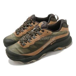Merrell Moab Speed GTX Gore-Tex Green Brown Men Outdoors Trail Running J066773