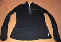 Nike Womens Pullover Hood Sz Large Dri-Fit Live Strong Black Long Sleeves Black