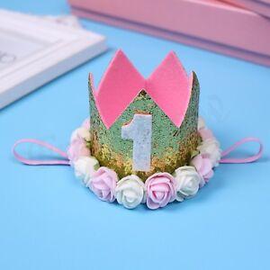 Baby Boy Girl Crown Tiara Hat Headband Hairband Party Birthday Smash Photo Props