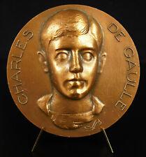 Médaille hommage à Charles de Gaulle Lille maison 9 rue Princesse 78 mm medal