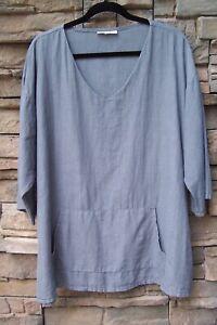 """Bryn Walker Oversized Linen Tunic Shirt – Fits Sz M, L, XL (56"""" hip) – Ex Cond"""