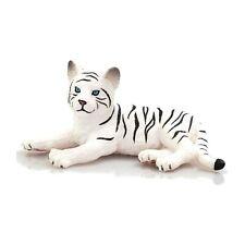 MOJO White Tiger Cub Lying Down Animal Figure 387015 NEW Educational Learning