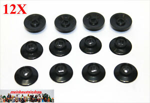 12X Lego® 50254 kleine Eisenbahnräder Log Zug Train Wheel Schwarz Black NEU