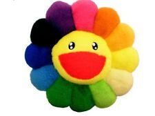 Kaikai Kiki flower cushion 30cm Rainbow Takashi Murakami Free Shipping Japan