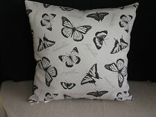 Black & Taupe Butterfly Text Insect Home Stylist Cushion Cover 45CM  Au Made