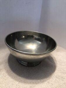 """Vintage Williamsburg Restoration Stieff Pewter Pedestal Bowl 7 1/4"""" CW5-14"""