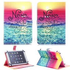 "US For 7"" Tab Android Tablet Universal Leather Never Stop Dream Print Case Cover"